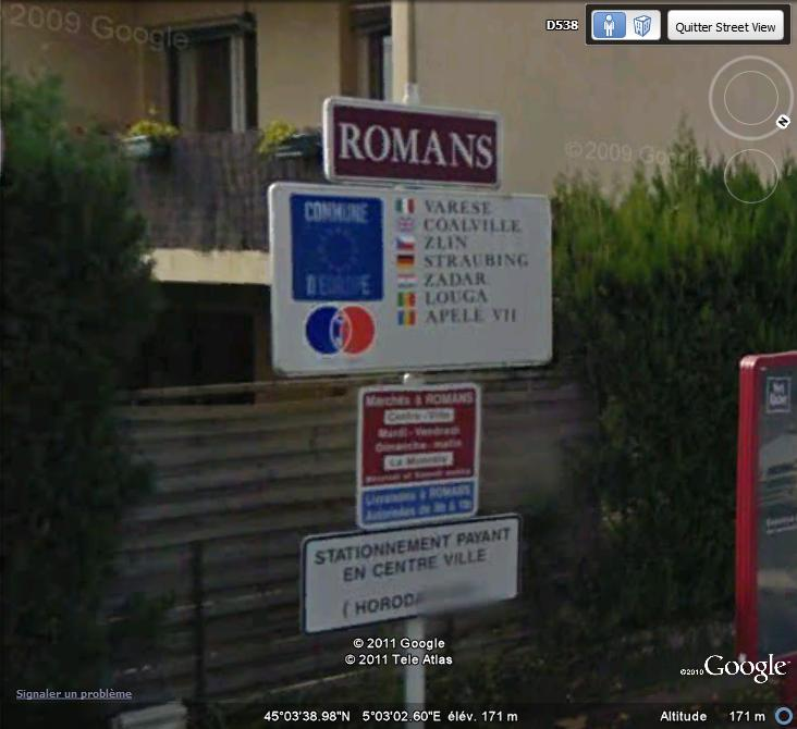 STREET VIEW : les panneaux de jumelage - Page 2 Jumela11