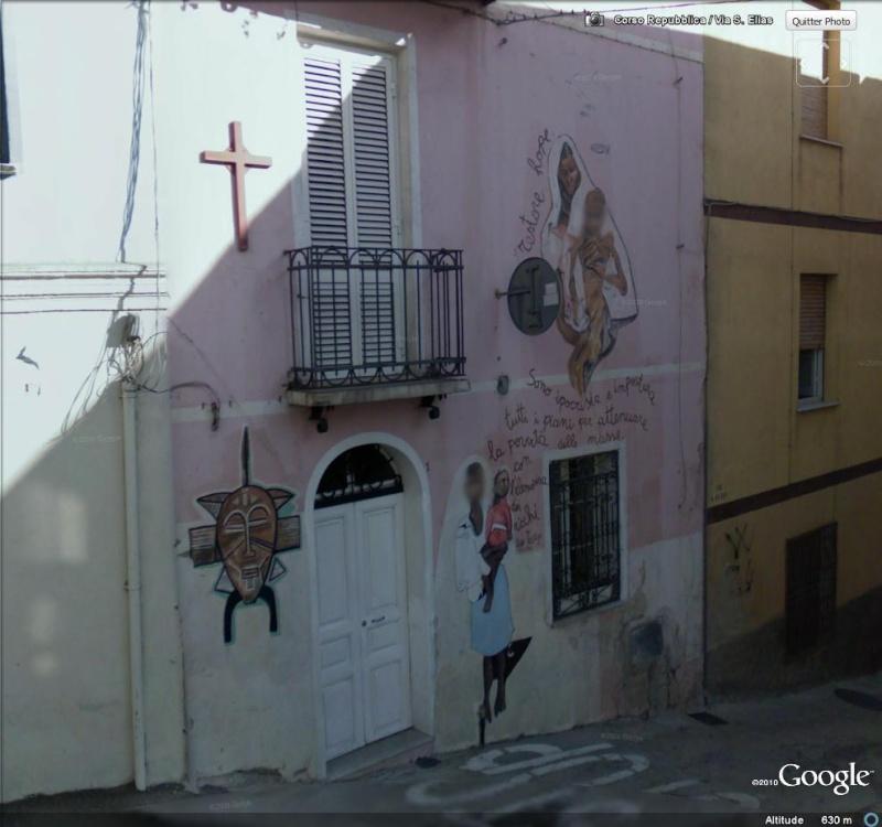 STREET VIEW : Peintures murales de l'île de Sardaigne - Italie. Peintu10