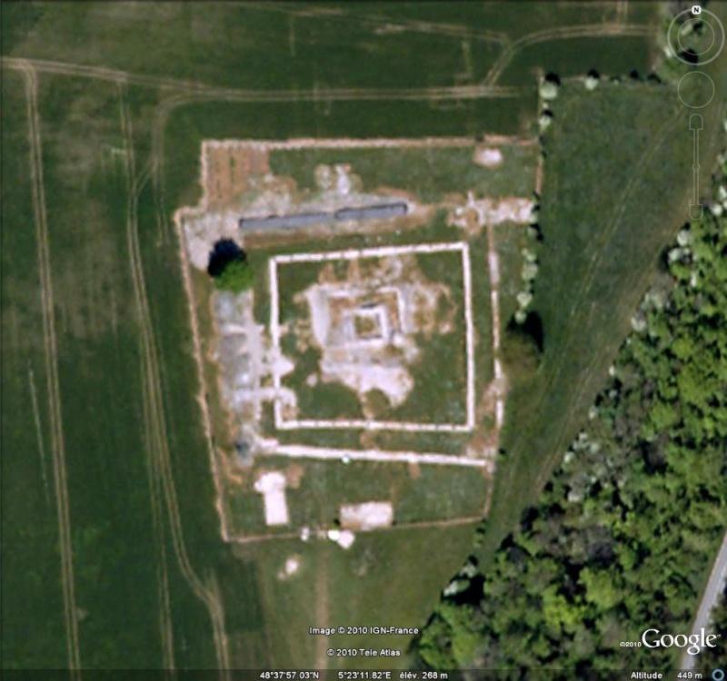 Antiquités romaines sous l'oeil de Google Earth Ruines13
