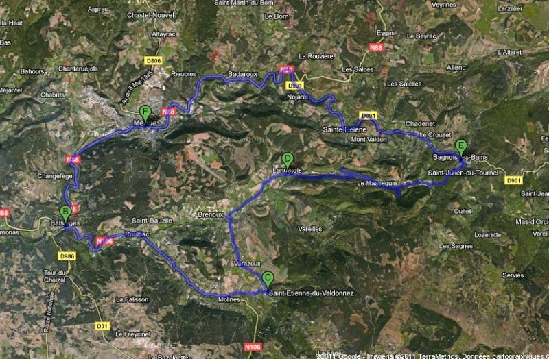 Bagnols les Bains, Alès, Mende... Roadbo11