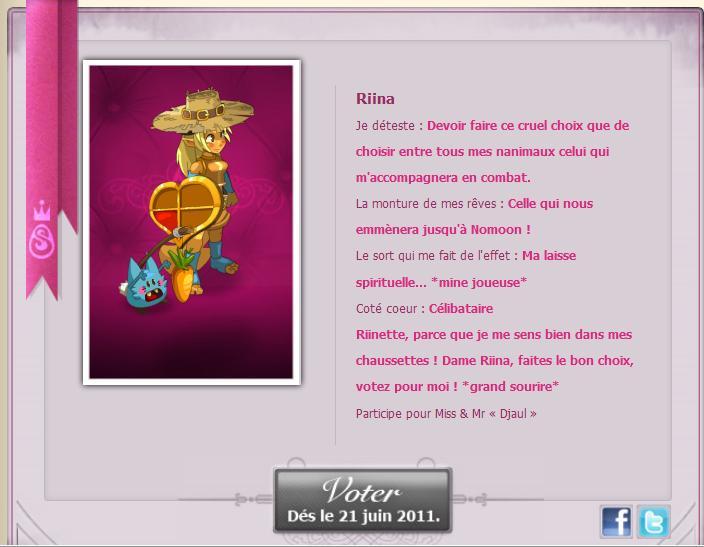 [EVENT ANKAMA] Faites-vous connaître pour le concours de Miss&Mister Amakna ! Riina11