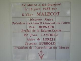 Musée de Lorris (Résistance et Déportation) Imgp2313