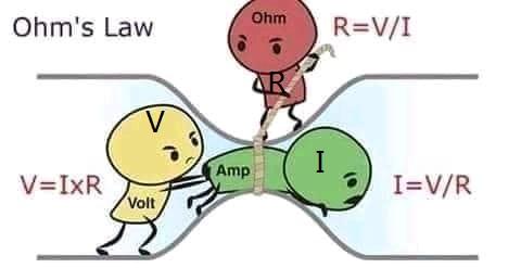 الكهرياء: شرح قانون أوم بطريقة مبسطة 93419610
