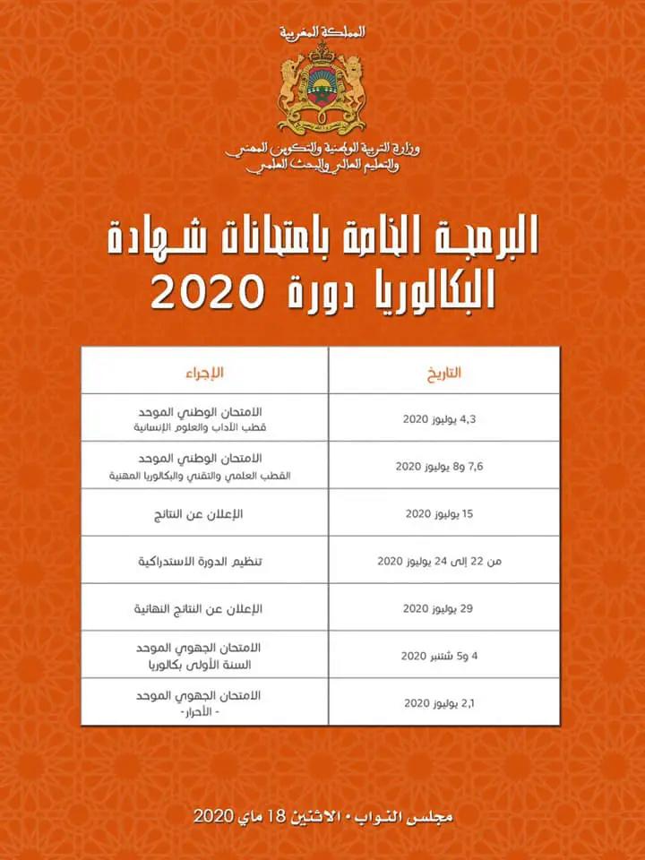 تفاصيل تاريخ إجراء إمتحانات الباكالوريا 2020 Aoayo-10