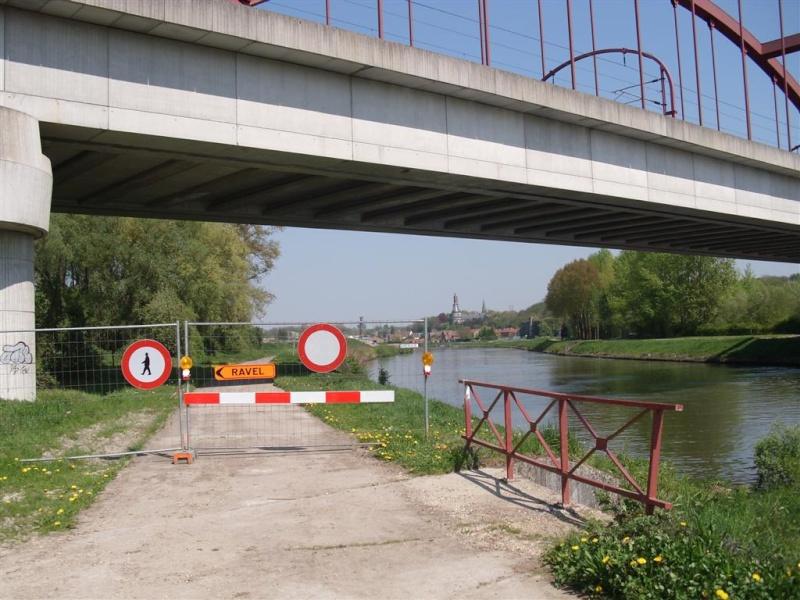 RAVeL 1 Ouest (part 03) Tournai-Blaton 04 Itinéraire N°4 - W4 - Canaux, fleuves et rivières - Partie Tournai - Blaton (RAVeL 1 Ouest) Bruyel10