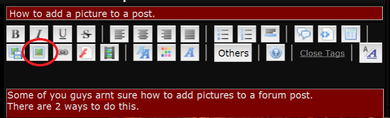 How to add a picture to a post.  Portan10