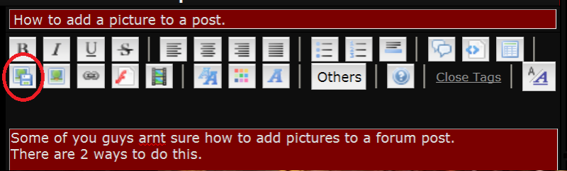 How to add a picture to a post.  Yayaya10