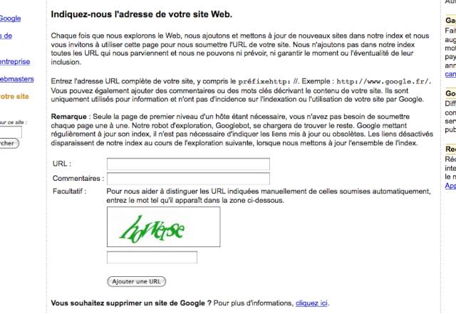 référencer - Réferencer son site web Addurl10