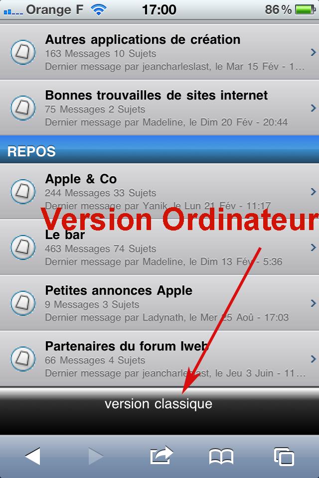 Version Mobile  du forum des utilisateurs iWeb Forum-12