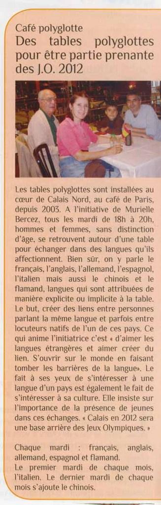 Encart dans le gratuit Calais Info Tmp-132