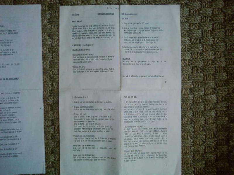 """Les """"Nederlandse handeleiding"""" ou feuilles d'instruction en néerlandais Sp_a3118"""