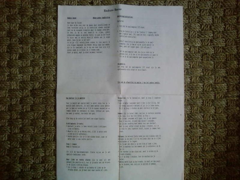 """Les """"Nederlandse handeleiding"""" ou feuilles d'instruction en néerlandais Sp_a3119"""