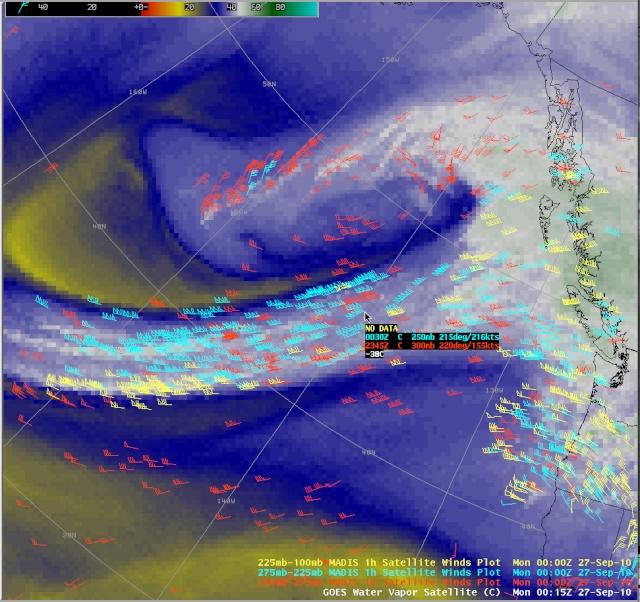 Forte Jet Stream sopra l'Oceano Pacifico Nord Orientale 10092710