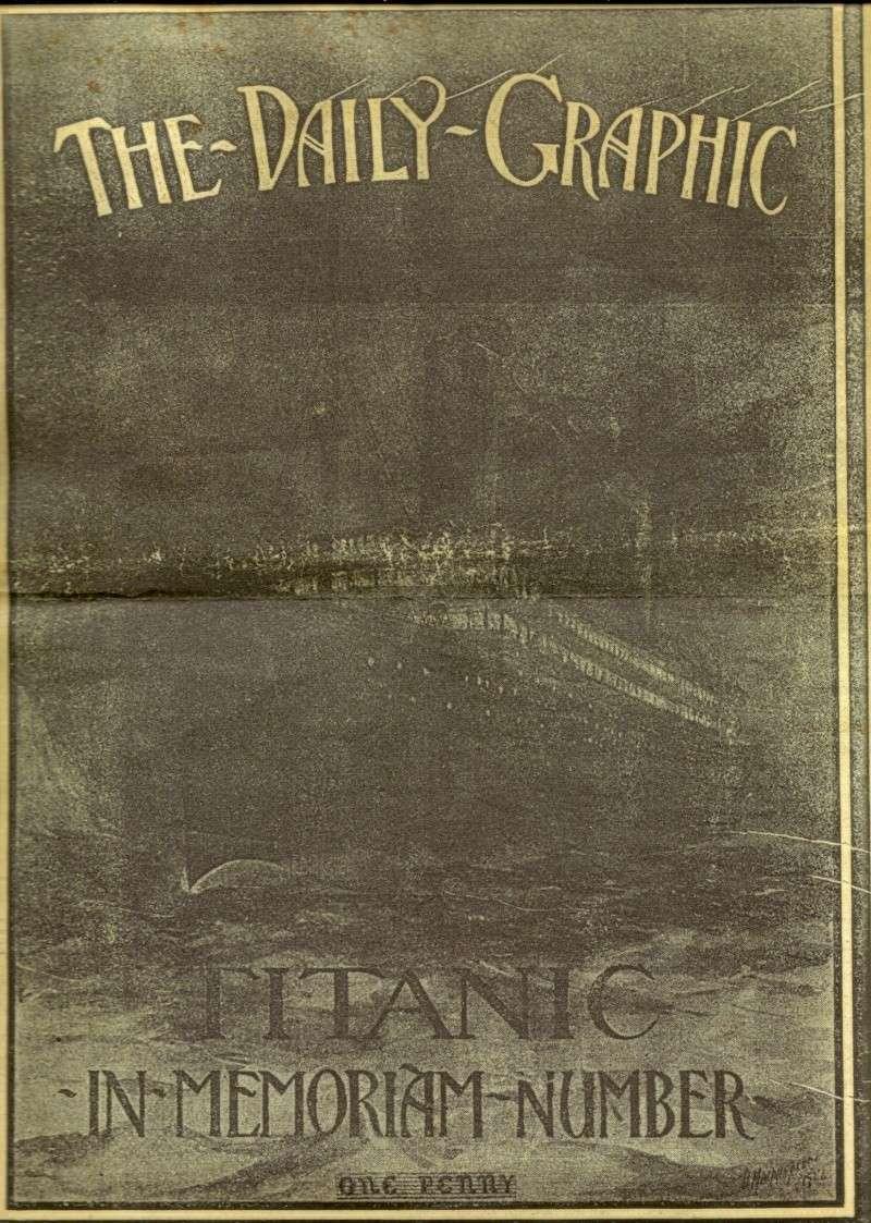 Le naufrage du Titanic fait la une des journaux Numari10