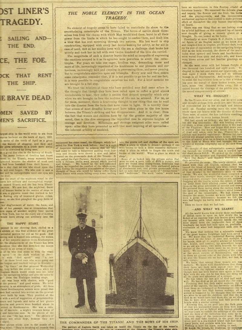 Le naufrage du Titanic fait la une des journaux Numari11