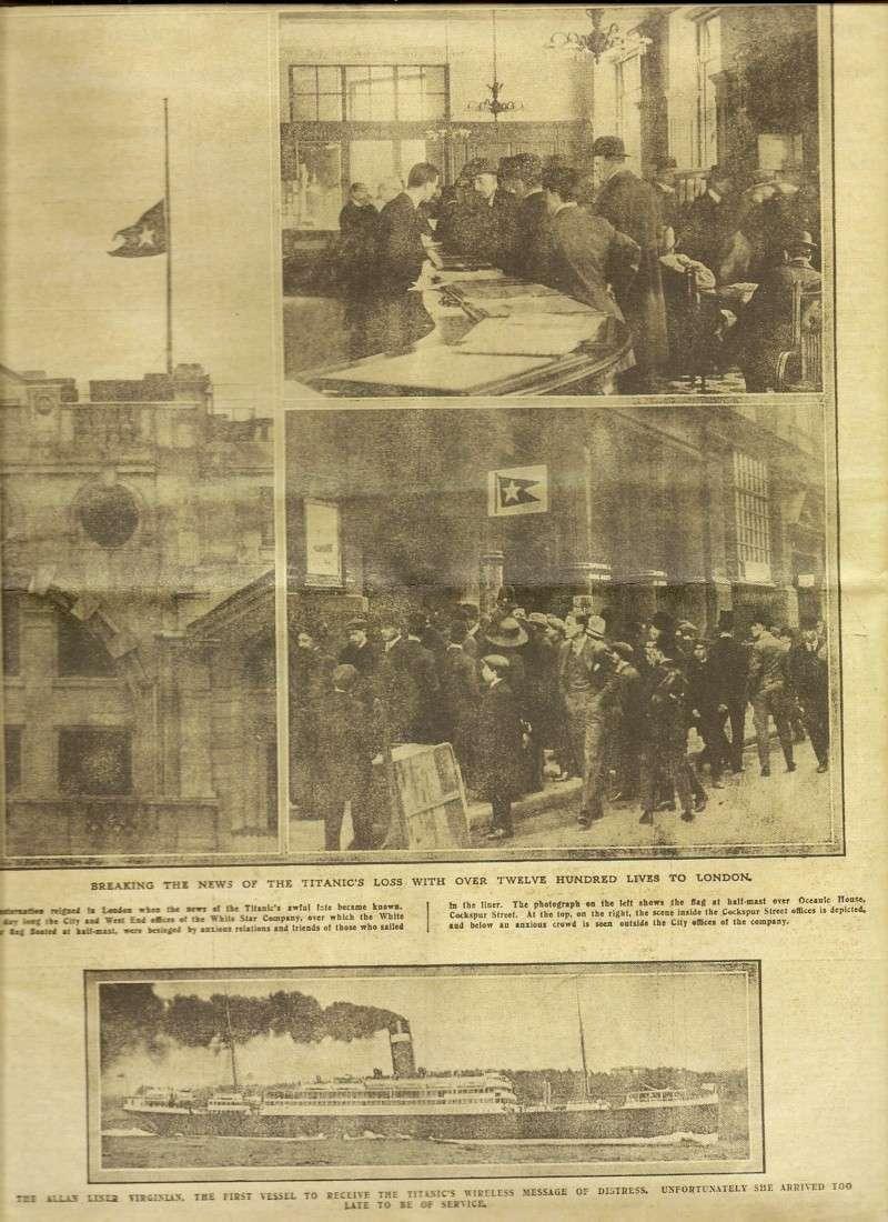 Le naufrage du Titanic fait la une des journaux Numari18