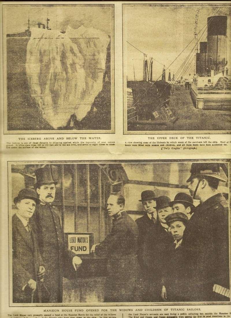 Le naufrage du Titanic fait la une des journaux Numari19
