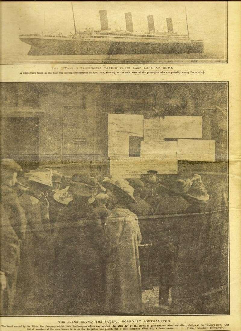 Le naufrage du Titanic fait la une des journaux Numari20