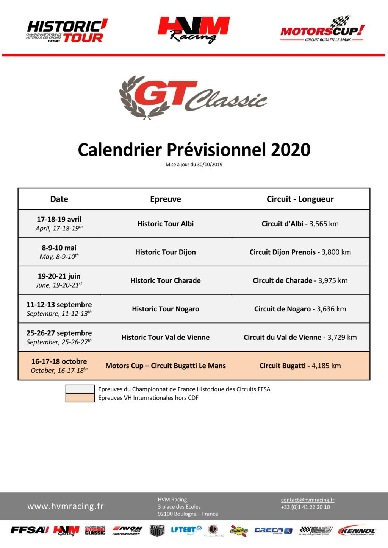 GT Classic 2020 ( post unique) Calend15