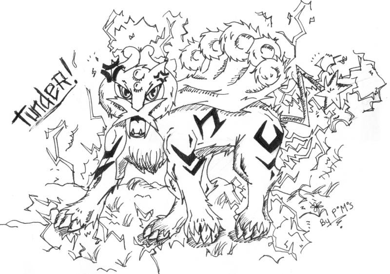 Carnet de dessin d'un Petit Pokabu... Raikou10