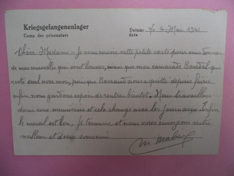 lettres de prisoniers de guerre Lettre21