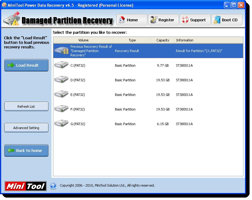 الاداة العملاقة MiniTool Power Data Recovery v6.5 Screen10