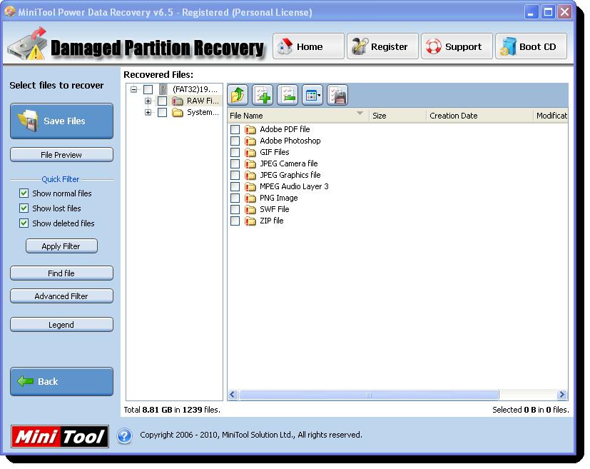 الاداة العملاقة MiniTool Power Data Recovery v6.5 Screen13