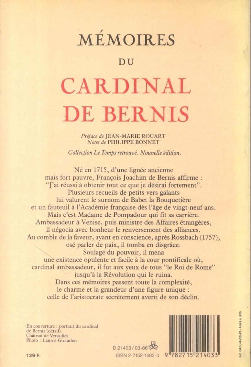 François Joachim de Pierre de Bernis, cardinal de Bernis Bernis13