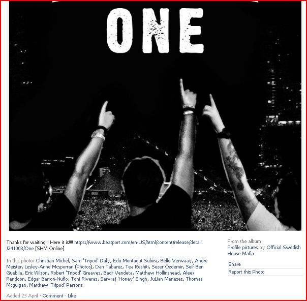 The controversy around the title One of the Swedish House Mafia Ouch10