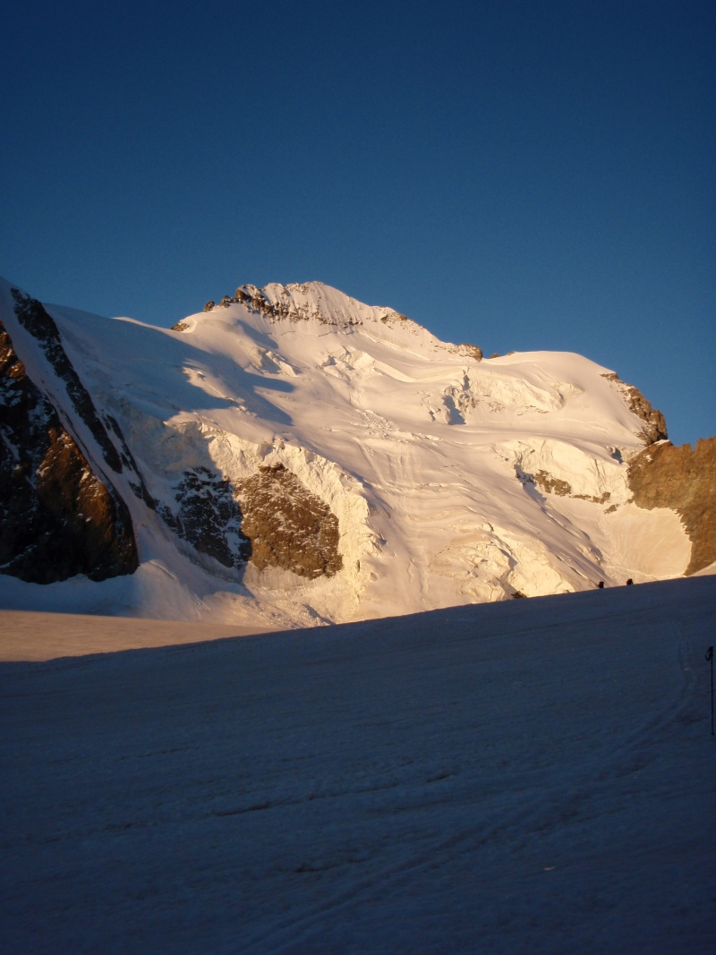Photographie : Barre des Ecrins et glacier blanc au petit matin. P7240210