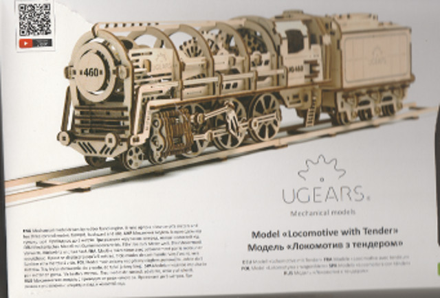 Lokomotive mit Tender UG460 von UGEARS Start10