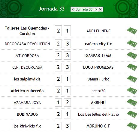 JORNADA 33 Result26