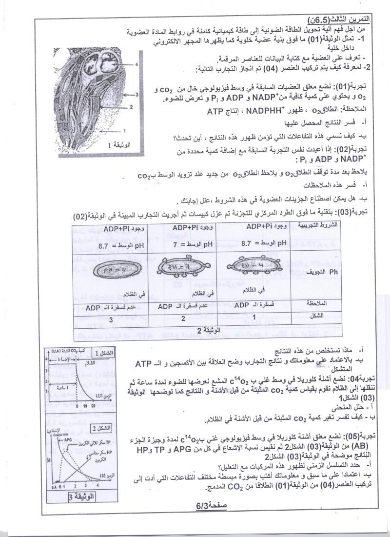 امتحان شهادة البكالوريا التجريبي للتعليم الثانوي - ماي 2011 00311