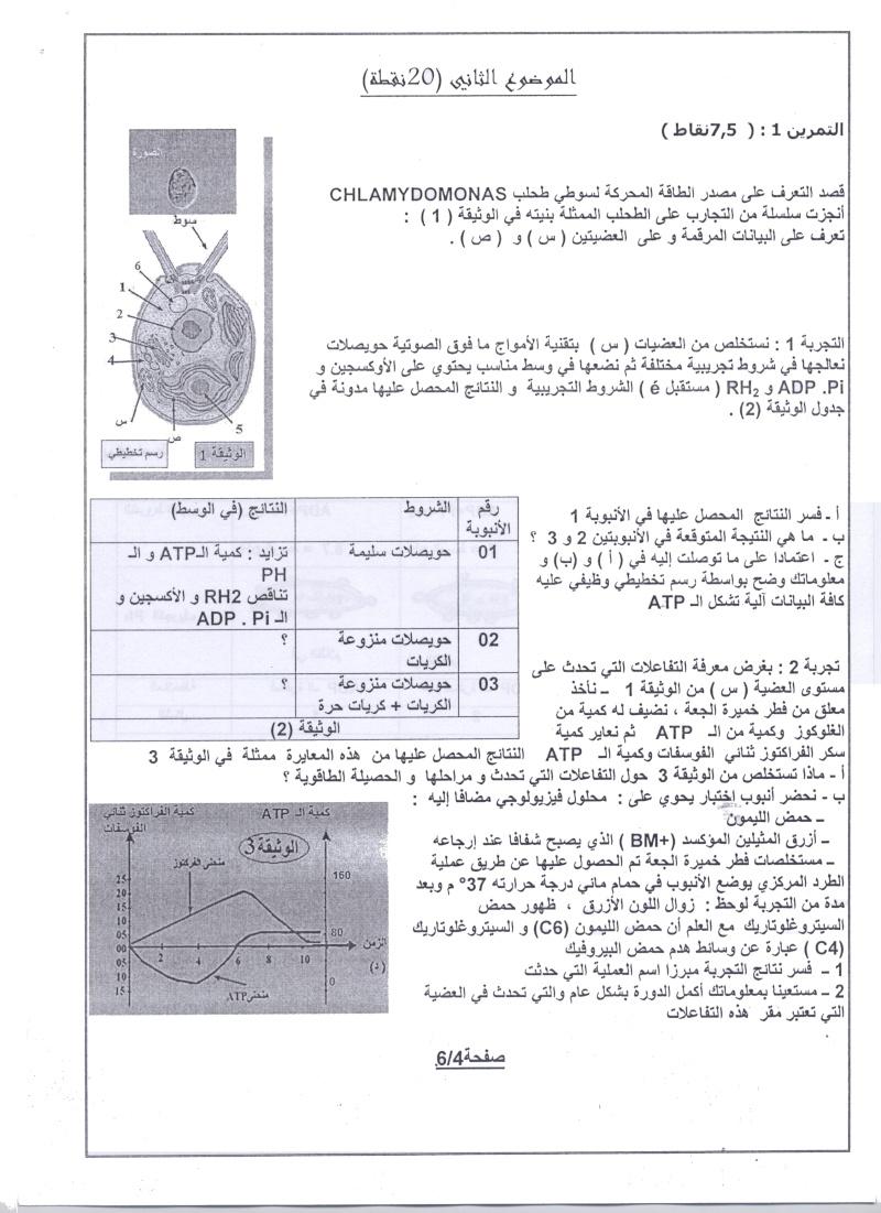 امتحان شهادة البكالوريا التجريبي للتعليم الثانوي - ماي 2011 00411