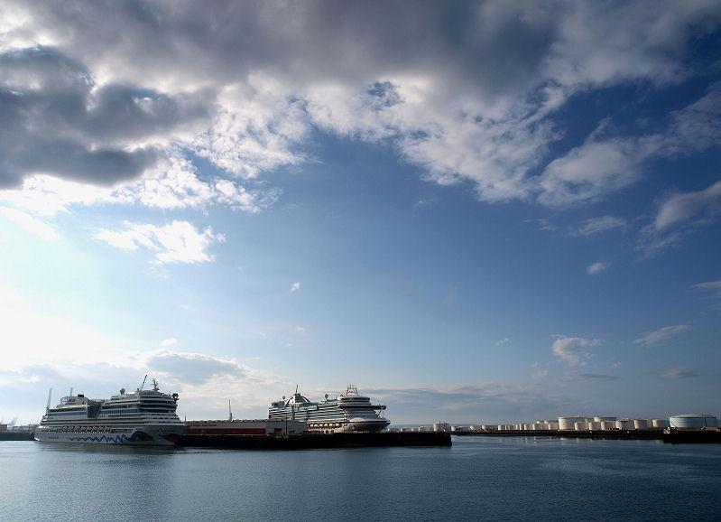 Ciel menaçant sur Le Havre Croisi10