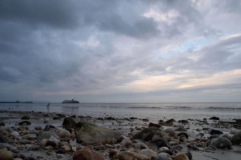 Ciel menaçant sur Le Havre Plage310