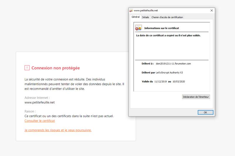 Forum inaccessible a cause du certificat SSL invalide ! 261
