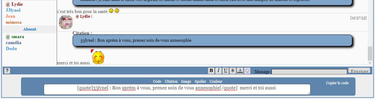 *RESOLU*[PHPBB2] Nouveaux BBcode pour le TchatBox : Captu551