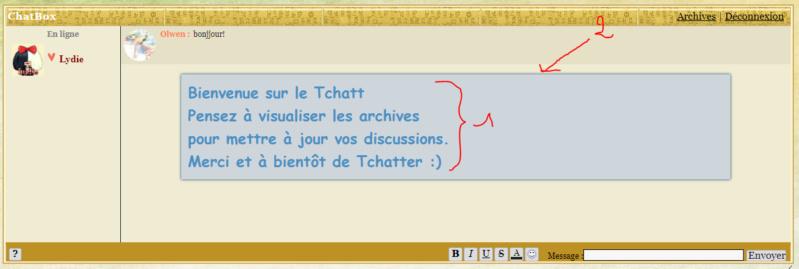 *RESOLU* [PHPBB2] Améliorer mon message du Tchatbox. Tchatt10
