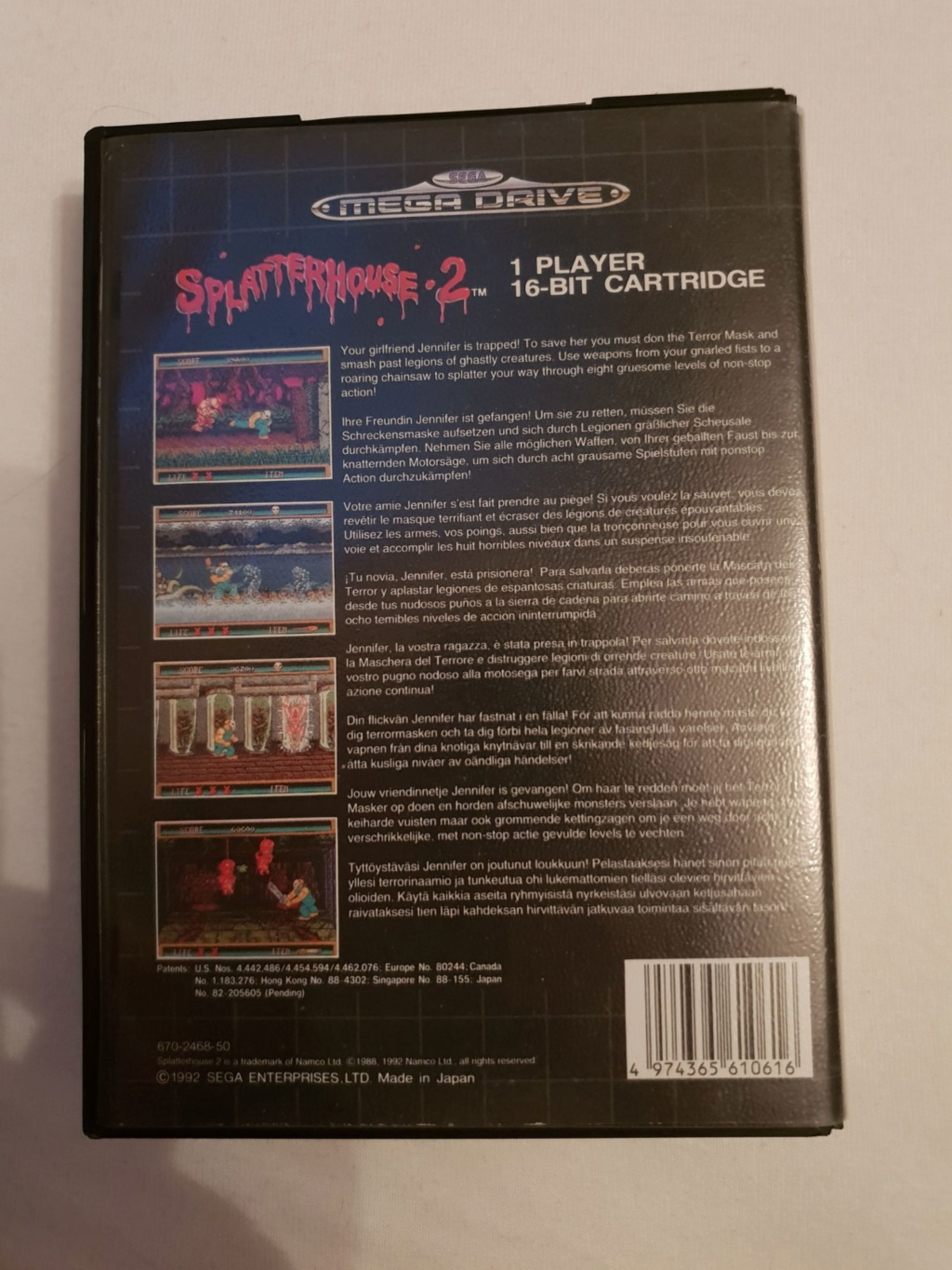 SPLATTERHOUSE 2 MD SANS NOTICE + REVENGE OF SHINOBI LOOSE 12186112