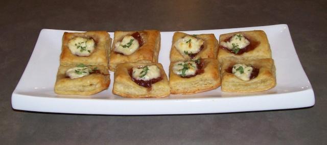 Bouchées sur pâte feuilletés Fromag11