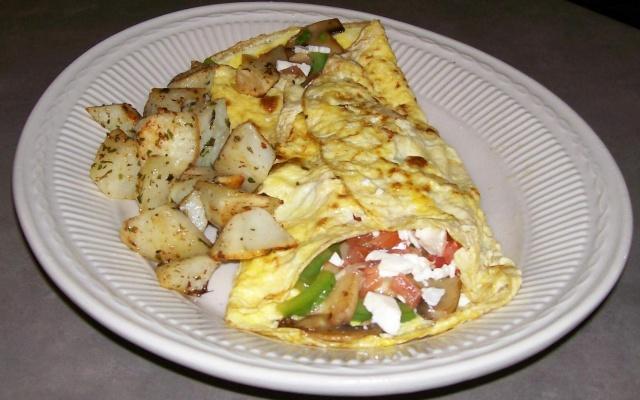 Omelette champignons, épinards et Feta Omelet15