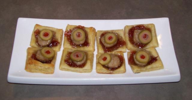 Bouchées sur pâte feuilletés Soucis10