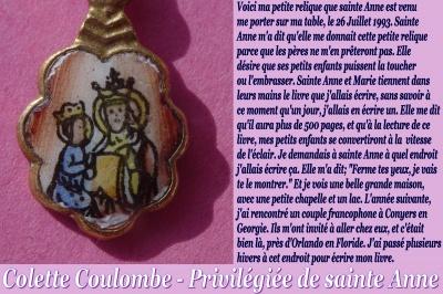 Les faveurs de Sainte Anne à Colette Coulombe ! Colett29