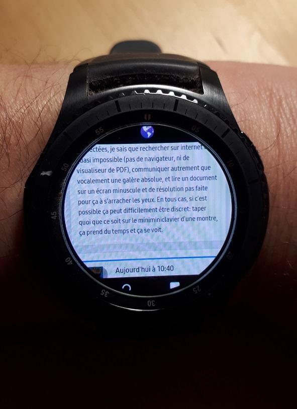 les montres connectées Montre10