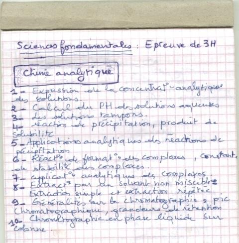 le programme détaillé du concours résidanat 2011 Oran  Pharma15