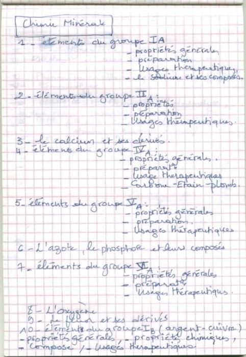 le programme détaillé du concours résidanat 2011 Oran  Pharma16