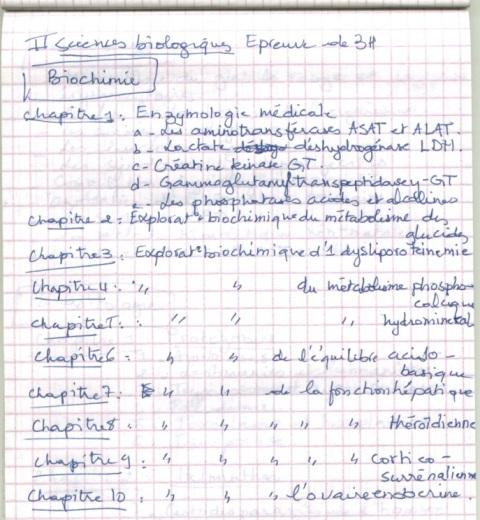 le programme détaillé du concours résidanat 2011 Oran  Pharma19