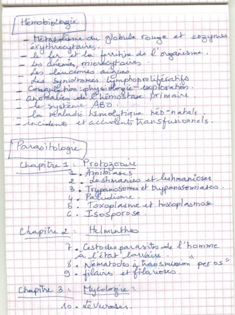 le programme détaillé du concours résidanat 2011 Oran  Pharma20