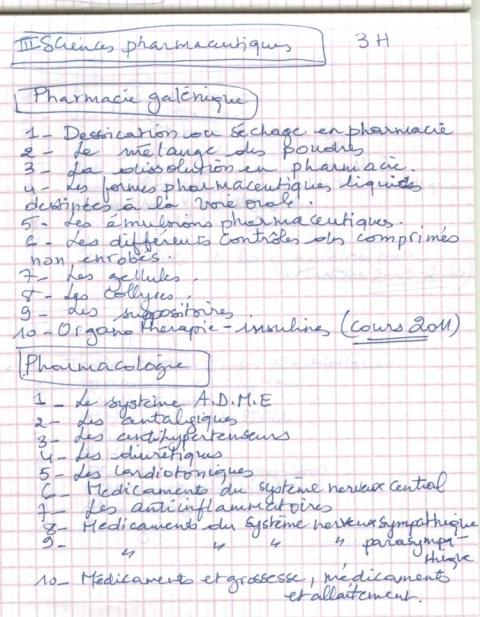 le programme détaillé du concours résidanat 2011 Oran  Pharma23